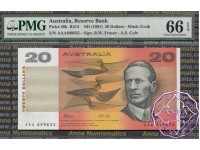 1991 R413i $20 AAA serials Fraser/Cole PMG66 EPQ