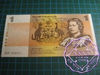 1976 $1 R76bF Knight/Wheeler UNC