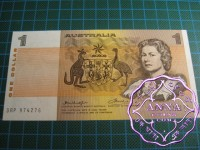 1976 $1 R76bL Knight/Wheeler aUNC