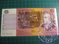 1985 $5 R209b Johnston/Fraser UNC