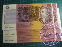 $5 R207 R208 R209b Pair X 3  UNC 499 & 500