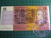 1985 $5 R209a Johnston/Fraser UNC