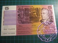 1991 $5 R213 Fraser/Cole Pair UNC 999-000