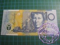 1993 $10 R316aF Fraser/Evans UNC