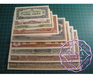JIM 1c to $1000 Full Set of 9 aUNC-UNC