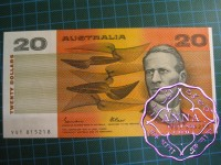 1985 $20 R409a Johnston/Fraser UNC