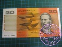 1991 $20 R415 Fraser/Evans aUNC