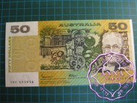 1985 $50 R509b Johnston/Fraser UNC