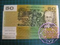 1993 $50 R515 Fraser/Evans aUNC Trio