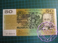 1993 $50  Fraser/Evans UNC HF