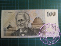1985 $100  R609 Johnston/Fraser UNC