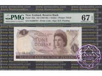 New Zealand 1967 R.N.Fleming $1-$20 UNC First Prefix Low Serials PMG 65-67 EPQ