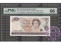 New Zealand 1981 H.R.Hardie $1 $2 $5 First Prefix Low Serials Matching Serial PMG 66-67 EPQ