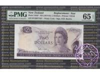 New Zealand 1977 H.R.Hardie $2 P164d 9Y3* PMG 65 EPQ