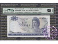 New Zealand 1977 H.R.Hardie $10 P166d 99C* PMG65 EPQ