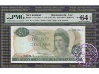 New Zealand 1977 H.R.Hardie $20 P167d YJ* PMG64 EPQ
