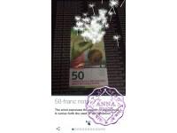 "Switzerland 2017 50 Francs UNC ,""Dandelion"" 3D AR interactive Banknote"