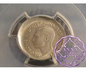 Australia 1952 Threepence PCGS MS62 Error