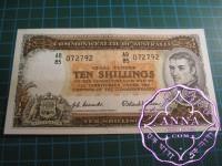 1954 R16 Ten Shillings Coombs/Wilson aUNC