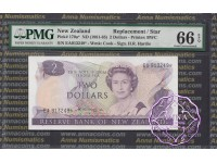 New Zealand 1981 H.R.Hardie $2 P170a EA* PMG 66 EPQ