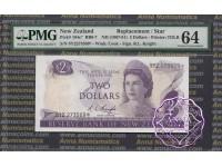 New Zealand 1975 R.L.Knight $2 9Y2* PMG 64