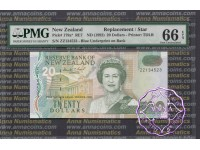 New Zealand 1992 D.T.Brash $20 ZZ* PMG 66 EPQ