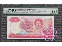 New Zealand 1985 S.T.Russell $100 PMG 67 EPQ