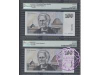 1991 R613L ZLD $100 Fraser/Cole PMG 63 EPQ No.1 & No.2