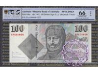 1984 $100 Specimen Johnston/Stone PCGS 66 OPQ