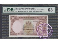 New Zealand 1955 G.Wilson Ten Shillings P158b PMG 63 EPQ