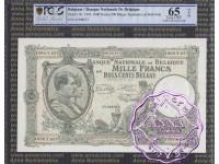Belgium 1943 1000 Francs-200 Belgas PCGS 65 OPQ