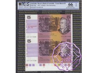 1992 $5 U8 Adelaide Fraser/Cole Uncut of 2 PCGS 66 OPQ