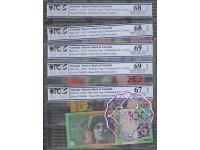 1997 AA97 $5-$100 Black Matching Set AA97004902 PCGS