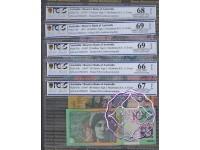 1997 AA97 $5-$100 Black Matching Set AA97001071 PCGS
