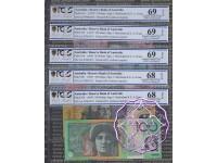 1997 AA97 $5-$100 Black Matching Set AA97001072 PCGS