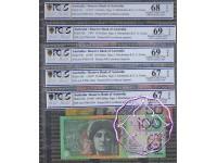 1997 AA97 $5-$100 Black Matching Set AA97001104 PCGS