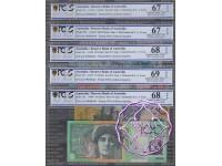 1999 AA99 $5-$100 Red Matching Set AA99000644 PCGS