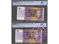 1991 $5 R213 Fraser/Cole Blcak & Red Opt PCGS 65-66 OPQ