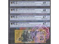 1996 $5-$50 Red AA96000731 Matching Set PCGS