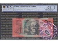1999 $20 Macfarlane/Evans Black Opt PCGS 67 OPQ