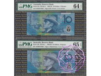 1993 & 98 $10 Matching Pair PMG 64 65 EPQ