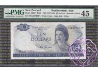 New Zealand 1968 D.L.Wilks $10 99A* PMG 45