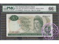 New Zealand 1975 R.L.Knight $20 PMG 66 EPQ