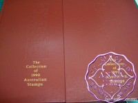 Australia 1990 Deluxe Yearbook Album with all Stamps FV$45.13