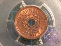 Australia 1943 Internment Camps Threepence Token PCGS MS63RB