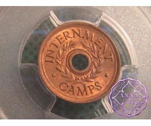 Australia 1943 Internment Camps Threepence Token PCGS MS64RB
