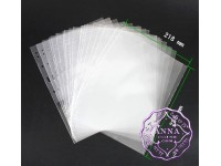 PCCB Transparent Stamp Banknote Album Insert The Protective Bag For Page Sheets