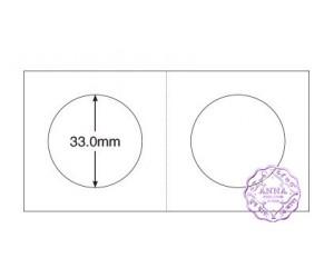 "PCCB 33mm Cardboard Staple 2""x2"" Coin Holders X2 Pcs"
