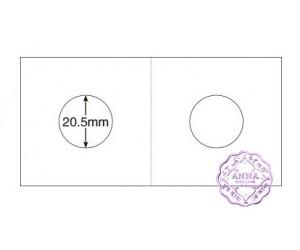 "PCCB 20.5mm Cardboard Staple 2""x2"" Coin Holders X2 Pcs"