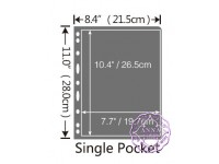 PCCB 1 Pocket Black Stamp Banknote Album Insert Page Sheets (Double-Sided)